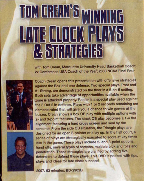 (Rental)-Tom Crean's Winning Late Clock Plays