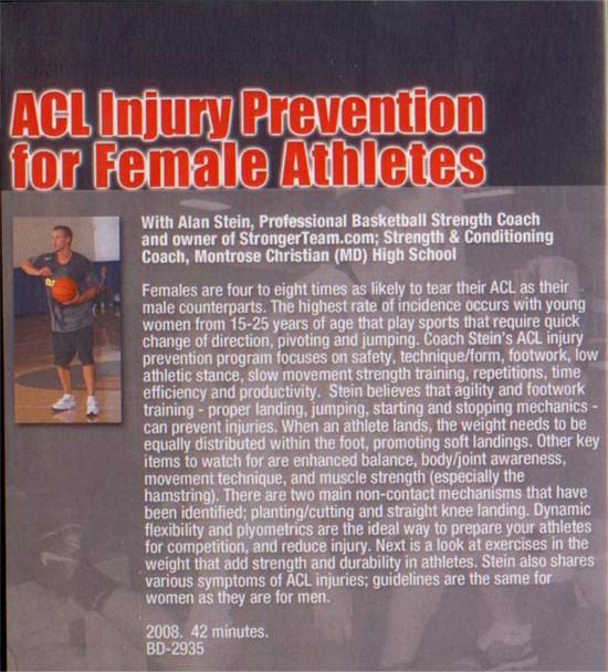 (Rental)-Acl Injury Prevention For Female Athletes