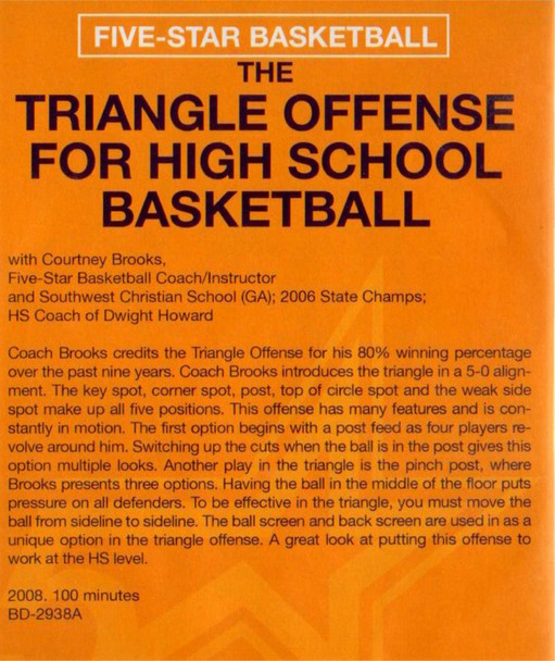 (Rental)- The Triangle Offense For High School Basketball