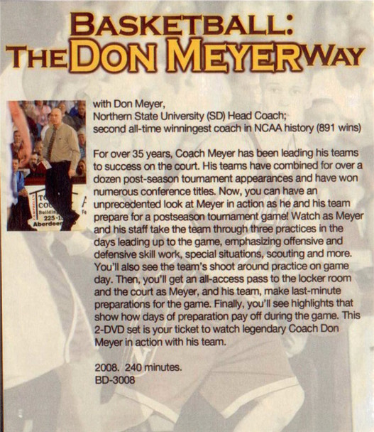 (Rental)-Basketball The Don Meyer Way