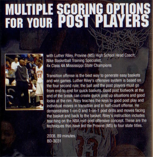 (Rental)-Multiple Scoring Options For Your Post Players