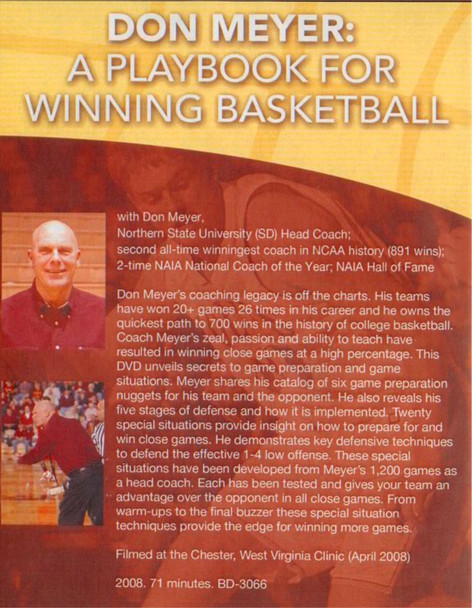 (Rental)-Don Meyer: A Playbook For Winning Basketball