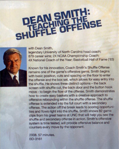 (Rental)-Dean Smith: Teaching The Shuffle Offense