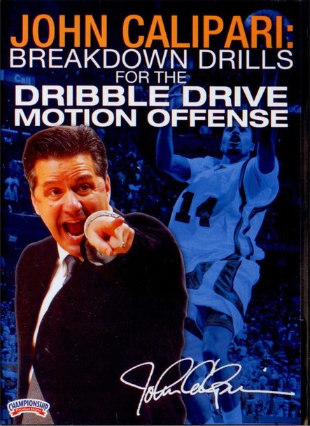 Breakdown Drills For The Dribble Drive Motion Offense by John Calipari Instructional Basketball Coaching Video