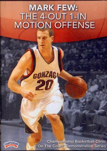 4 Out 1 In Motion Offense by Mark Few Instructional Basketball Coaching Video