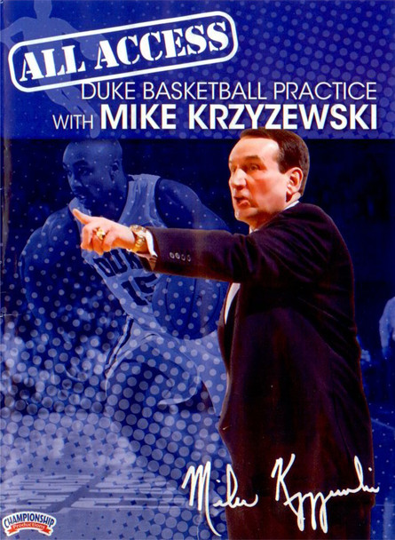 All Access: Duke Basketball Disc 2 by Mike Krzyzewski Instructional Basketball Coaching Video