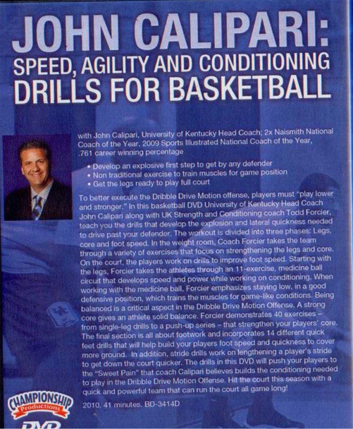 Conditioning Drills For Basketball  with John Calipari video