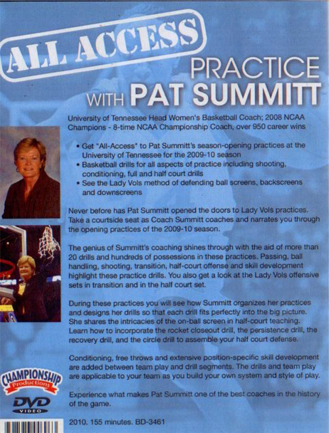 Pat Summitt Basketball Practice Template plan video