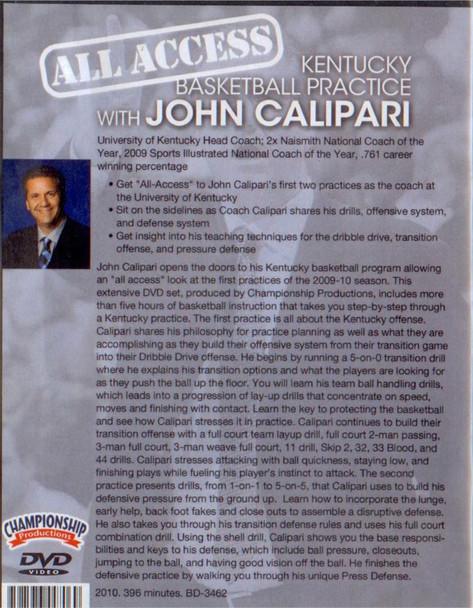 Basketball Practice with John Calipari