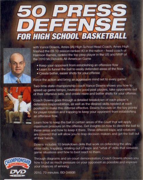 (Rental)-50 Press Defense For High School Basketball