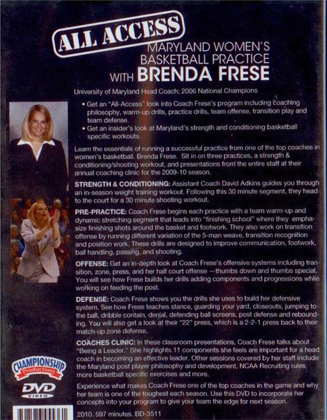 basketball practice tips with Brenda Freese video