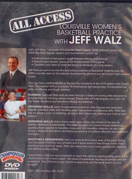 Women's basketball practice with Jeff Walz video
