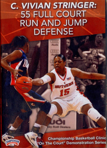 55 Full Court Run & Jump Defense by C. Vivian Stringer Instructional Basketball Coaching Video