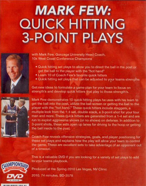 (Rental)-Mark Few: Quick Hitting 3--point Plays