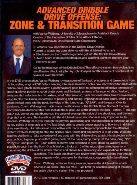 (Rental)-Advanced Dribble Drive Offense: Zone & Transition Game