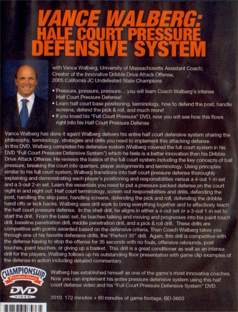 (Rental)-Half Court Defensive Pressure System