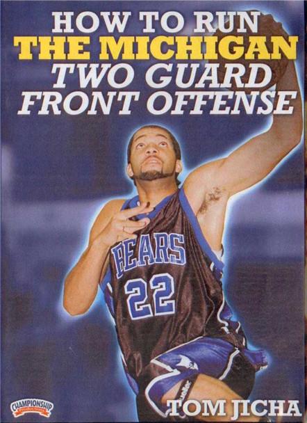 How To Run The Michigan Two Guard Front Offense (jicha) by Tom Jicha Instructional Basketball Coaching Video