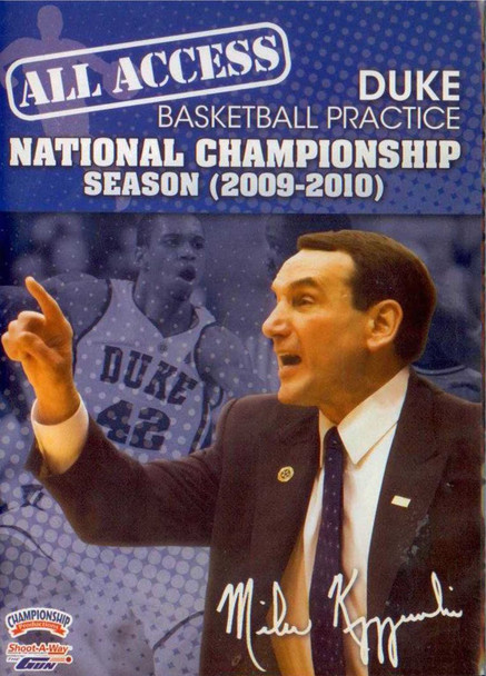 All Access: Duke National Champs (2009-2010) by Mike Krzyzewski Instructional Basketball Coaching Video