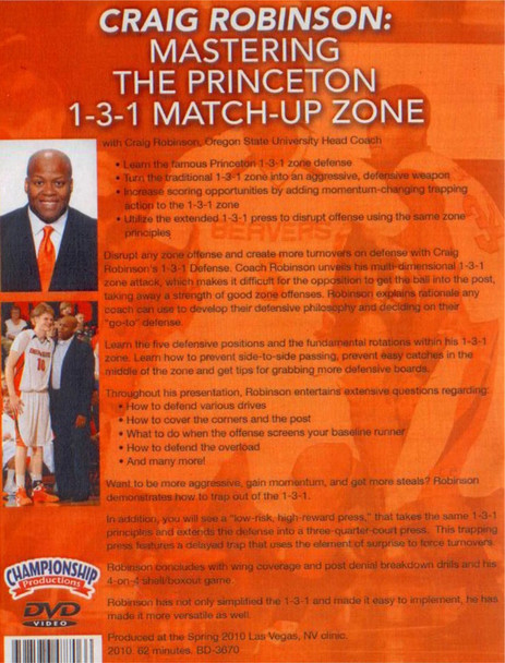 (Rental)-Mastering The Princeton 1--3--1 Match--up Zone