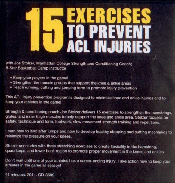 Prevent ACL injuries with 15 Exercises Video