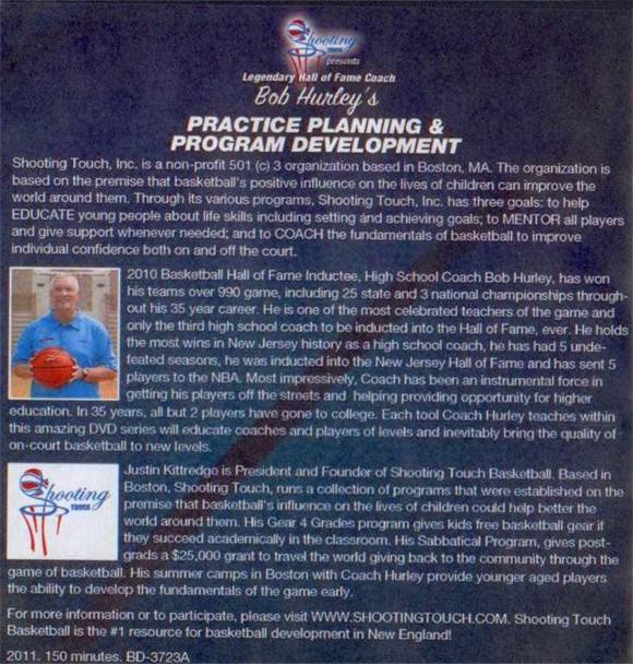 practice planning for basketball & program development Bob Hurley Sr.