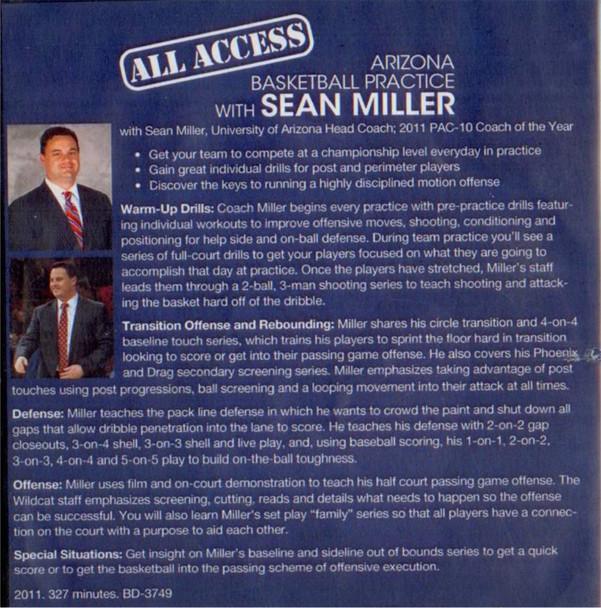Sean Miller basketball practice template on video