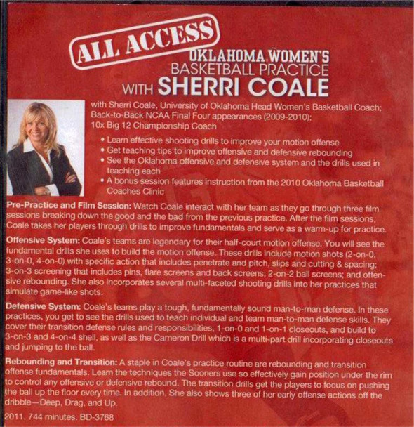 Sherri Coale basketball practice plan template