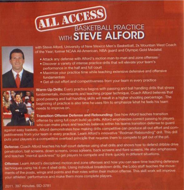 Steve Alford basketball practice plan video