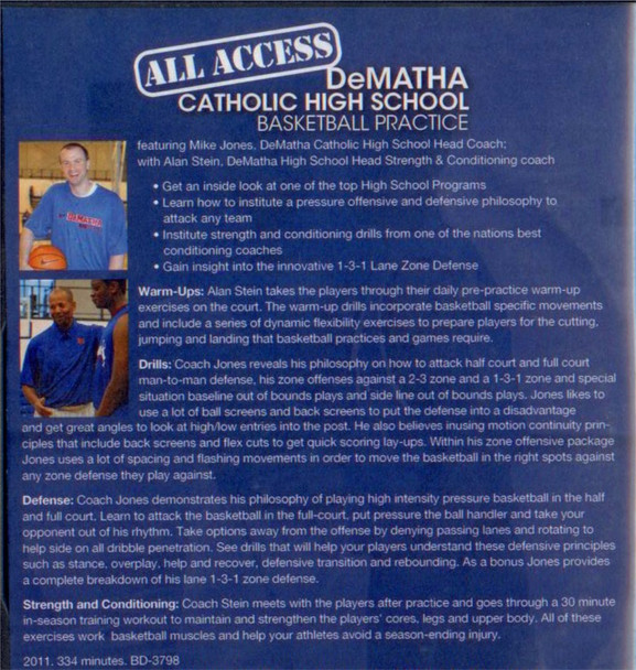 (Rental)-All Access: Dematha Catholic Basketball