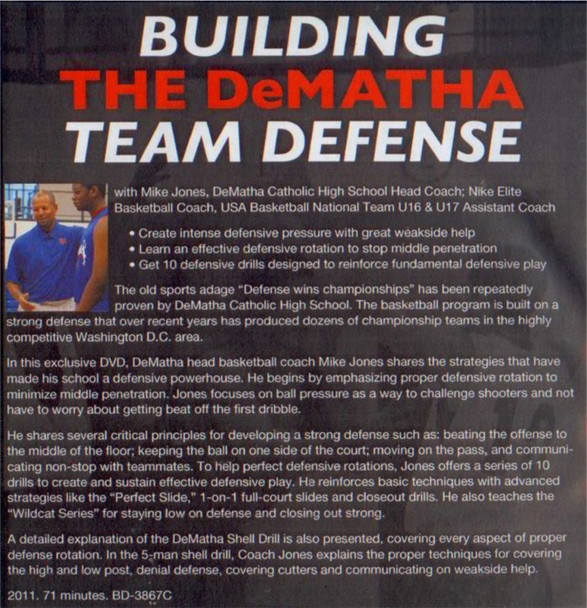 (Rental)-Building The Dematha Team Defense