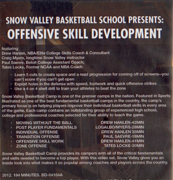 offensive skills in basketball snow valley basketball camp