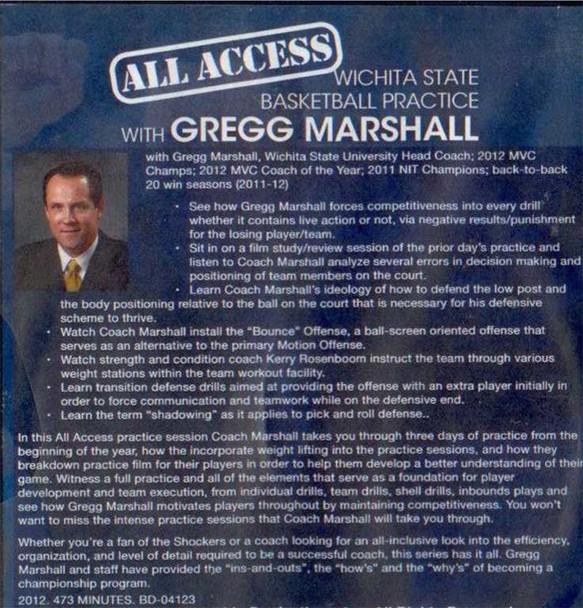 Greg Marshall Basketball practice plan video