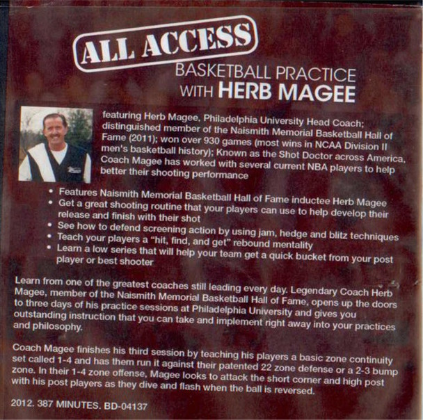 Herb Magee shooting drills tips camp
