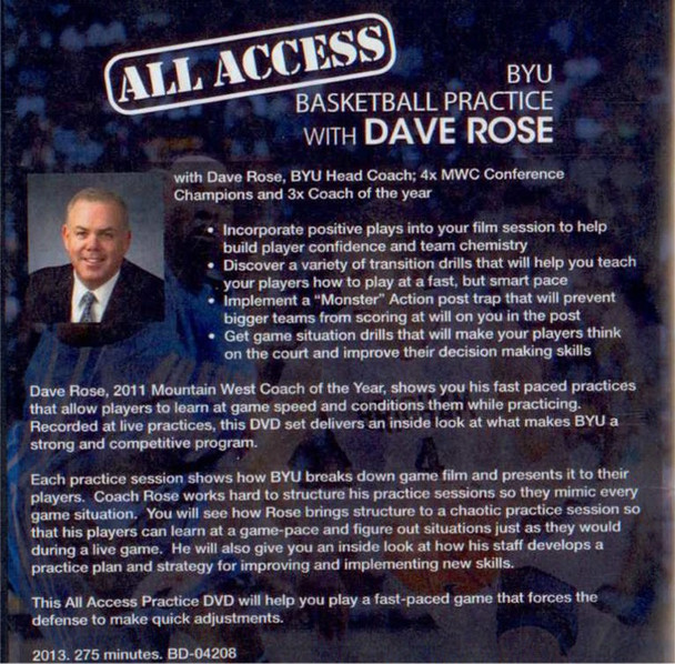 Dave Rose basketball practice drills and video