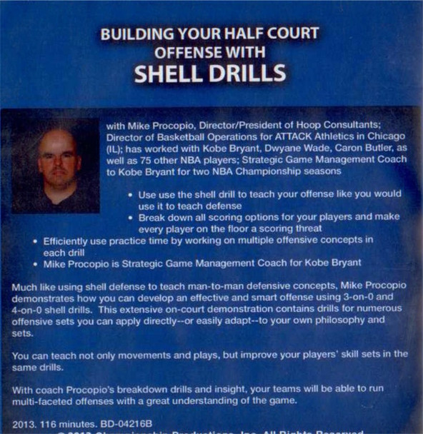 (Rental)-Building Your Half Court Offense W/ Shell Drills