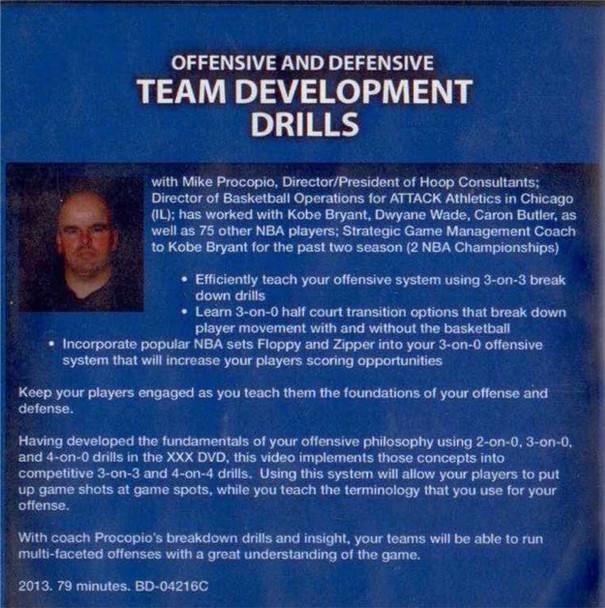 (Rental)-Offensive & Defensive Team Development Drills