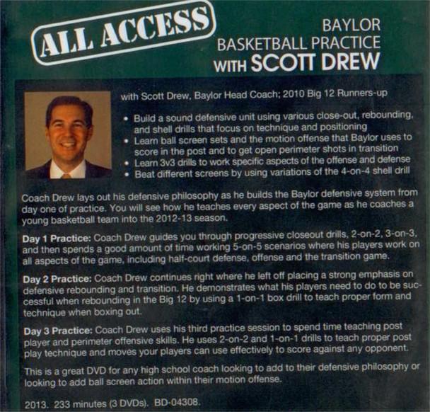 Scott Drew basketball practice plan video