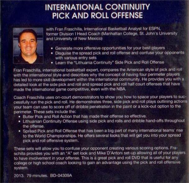 (Rental)-International Continuity Pick & Roll Offense