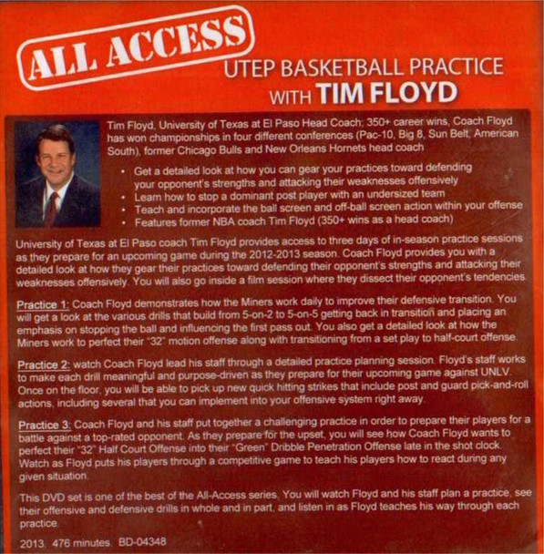 basketball practice plan with Tim Floyd