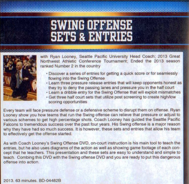 (Rental)-Swing Offense Sets & Entries