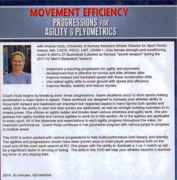 Agility and Plyometric Workouts with Andrea Hudy DVD