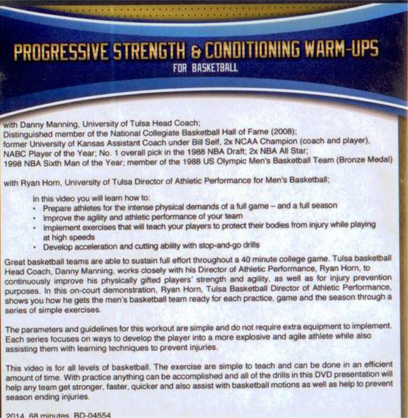 Strength Training and Conditioning For Basketball DVD