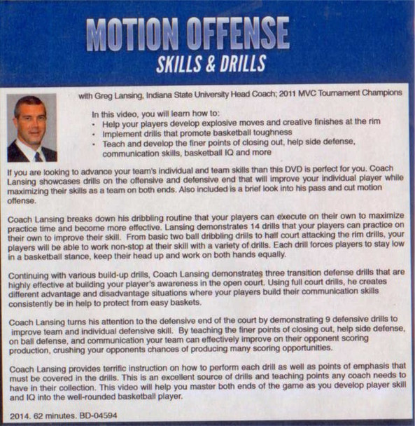 (Rental)-Motion Offense Skills & Drills