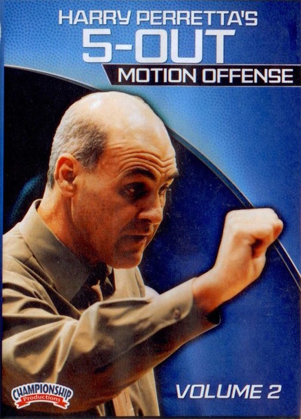 Harry Perretta's 5 Out Motion Offense Vol. 2 by Harry Perretta Instructional Basketball Coaching Video