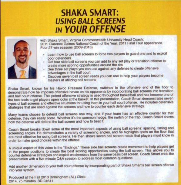(Rental)-Shaka Smart: Using Ball Screens In Your Offense