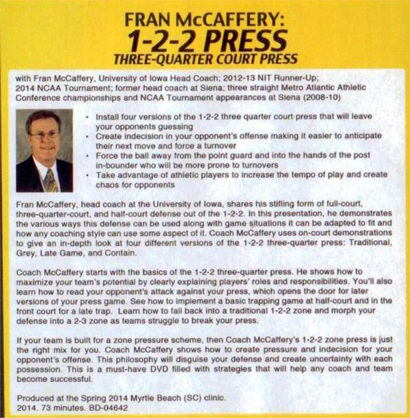 (Rental)-1-2-2 Press Three-quarter Court Press