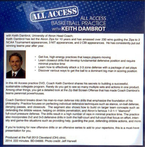 Keith Dambrot basketball practice plan and tips