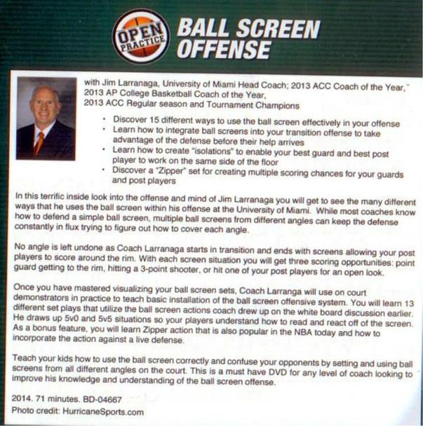(Rental)-Open Practice: Ball Screen Offense