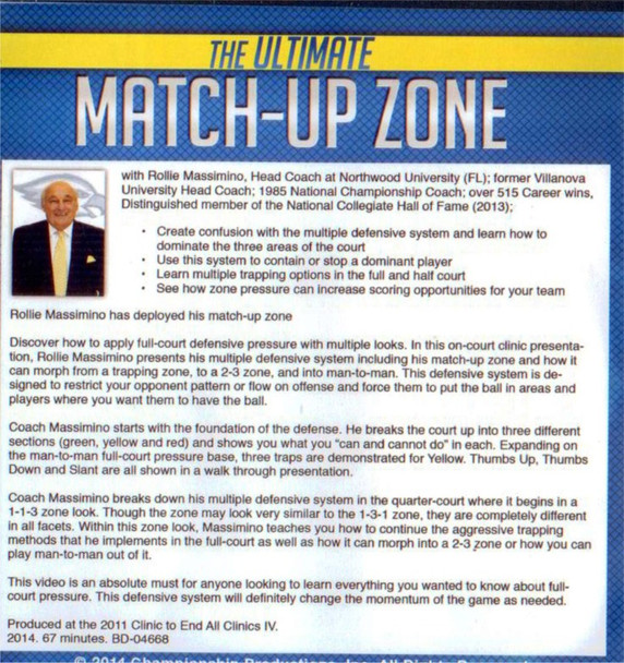 (Rental)-The Ultimate Match-up Zone