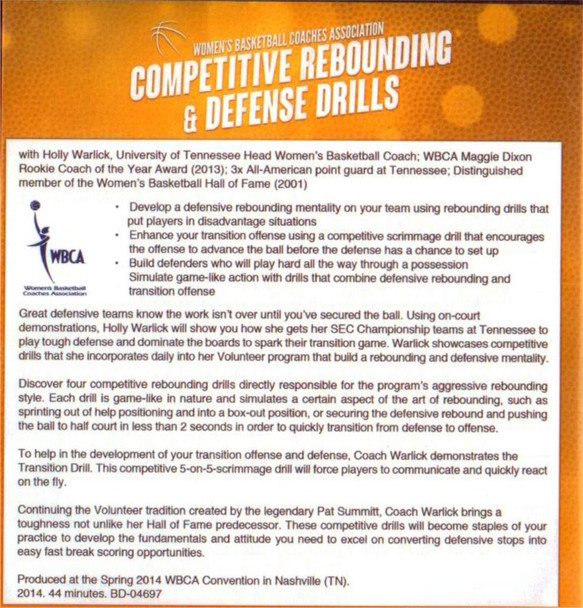 Competitive Rebounding Drills & Defense by Holly Warlick